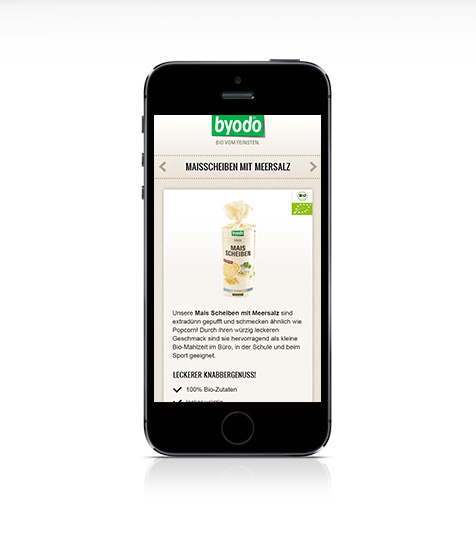 Byodo Mobile Website Design