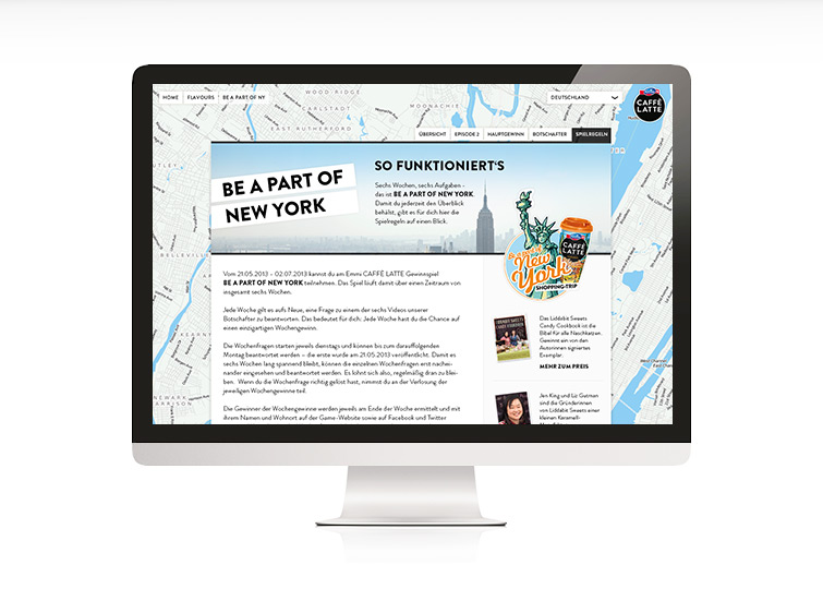 Emmi CAFFÈ LATTE - Be a part of New York - Website Design