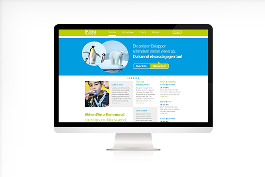 Aktion Klima mobil Website Design