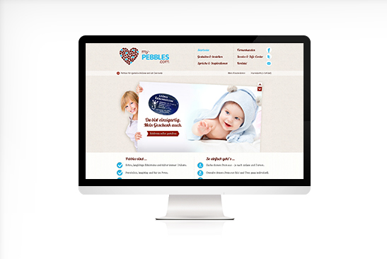 my-Pebbles Website Design