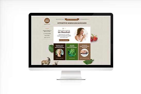 Website Design Natürlich EM