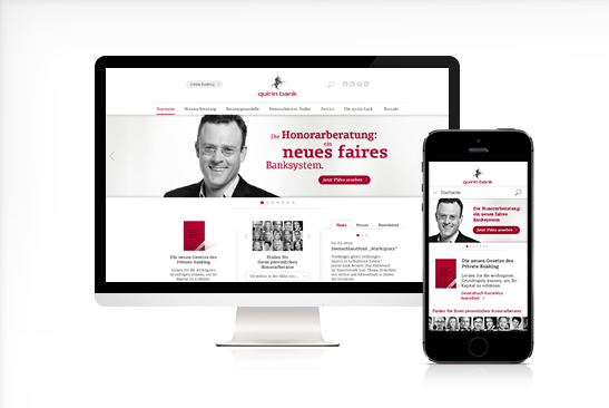 quirin bank Responsive Website Design