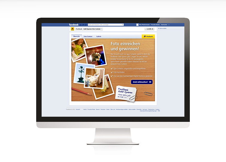 Postbank Photo Contest Facebook App Design