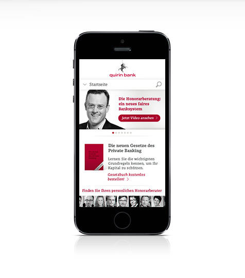 quirin bank mobile design