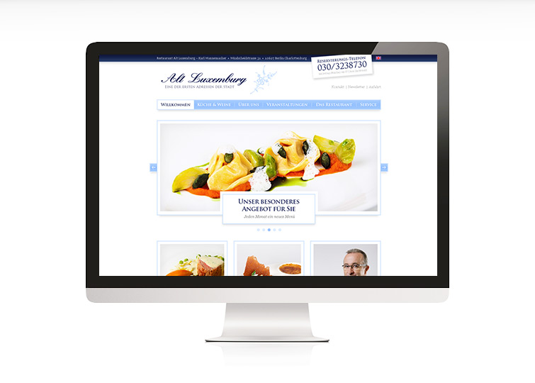 Restaurant Alt Luxemburg Berlin Website Design