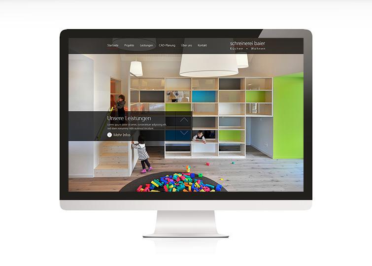 Schreinerei Baier Website Design