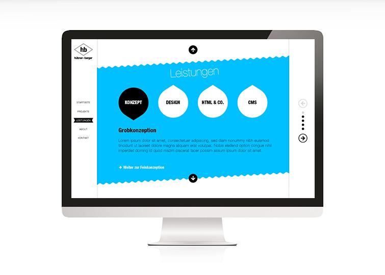 huebner+berger Website Design