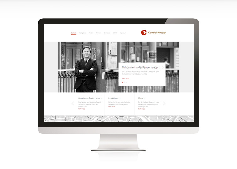 Kanzlei Knapp Website Design