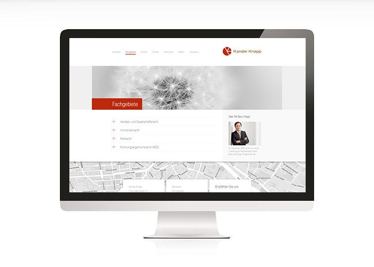Kanzlei Knapp Website Design