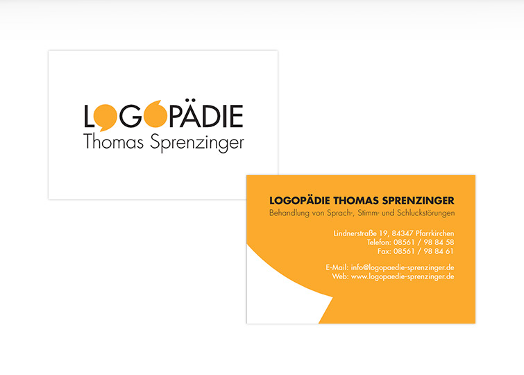 Thomas Sprenzinger Logopädie Corporate Design