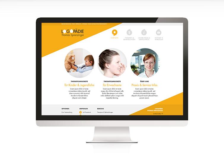 Logopädie Thomas Sprenzinger Webisite Design