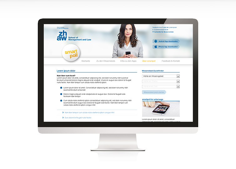 ZHAW School of Management and Law – Smartpoll – Website Launch