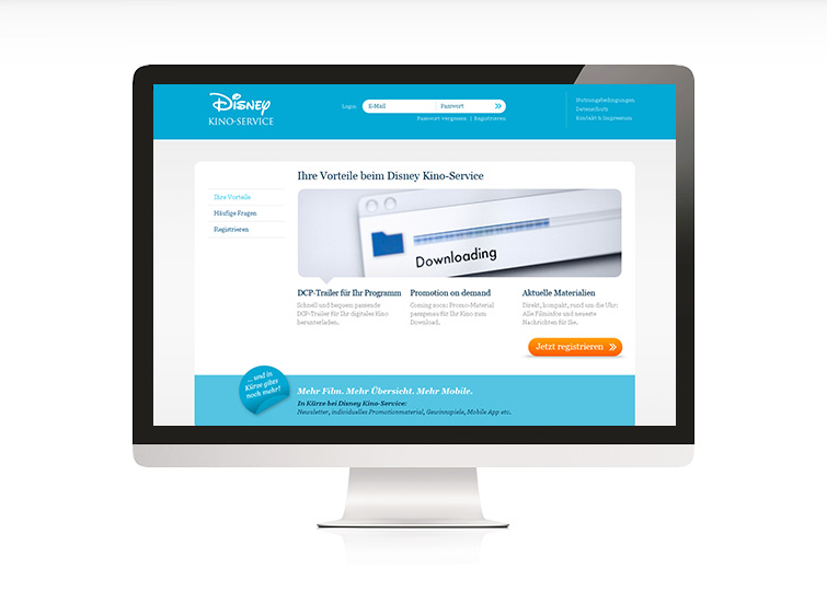 Disney Kino-Service Website Design