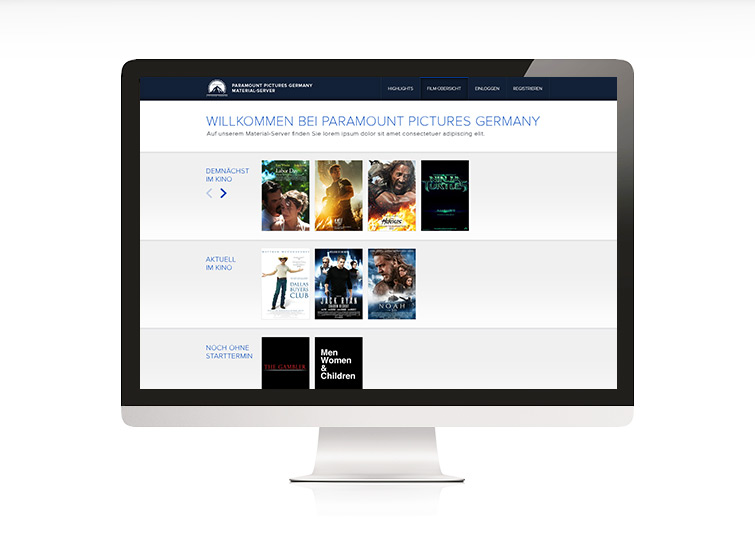 Paramount Material-Server Website Concept & Design
