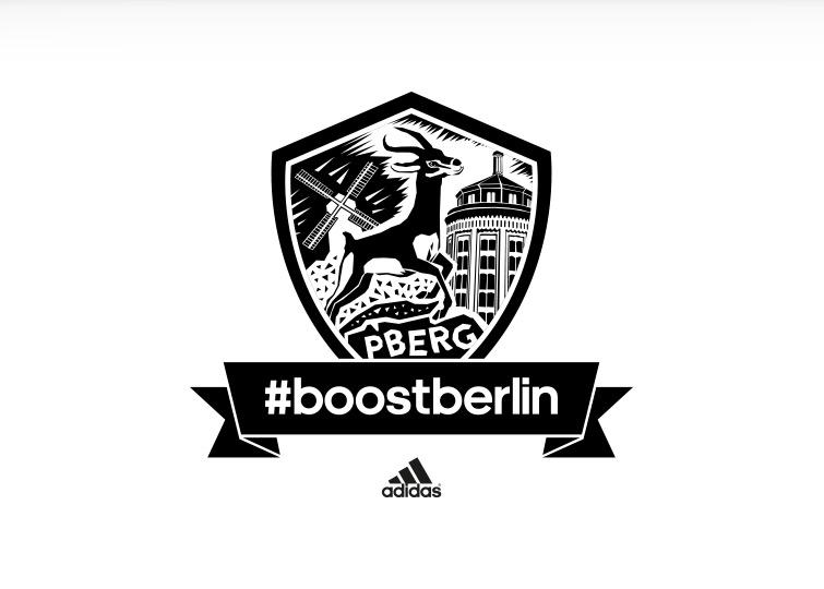 Kiezlogo Prenzlauer Berg für adidas #boostberlin – das Berliner Running Network von adidas