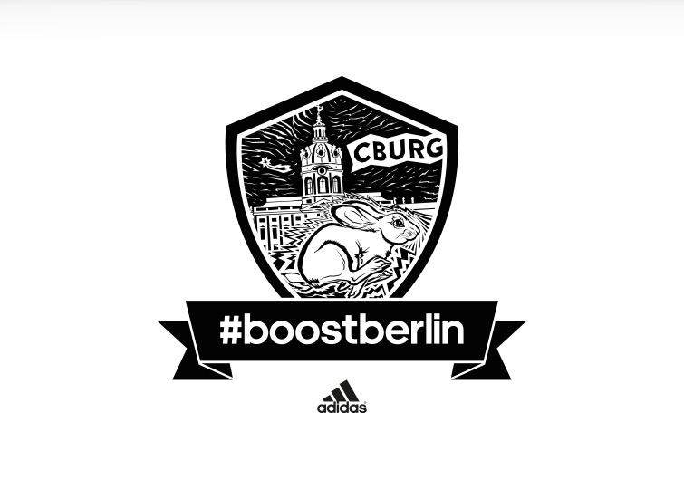 Kiezlogos für adidas #boostberlin – das Berliner Running Network von adidas