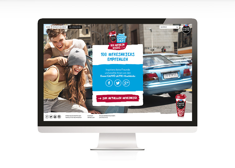 Emmi CAFFÈ LATTE 100 #freshkicks Responsive Website Design