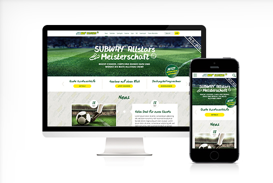 Subway Allstars Responsive Web Design