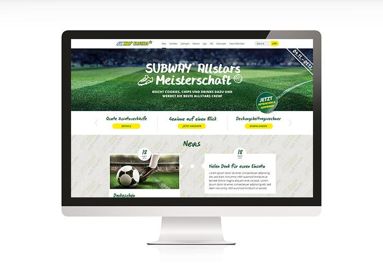 Subway Allstars Responsive Web Design