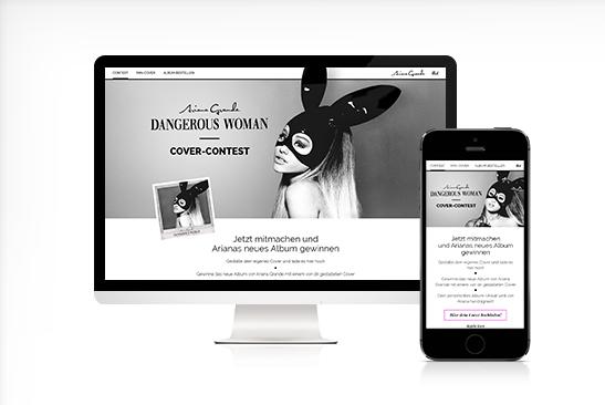 Universal Ariana Grande Dangerous Woman Cover Contest Microsite